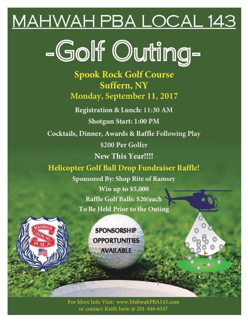 Mahwah PBA 143 Golf Poster 2017